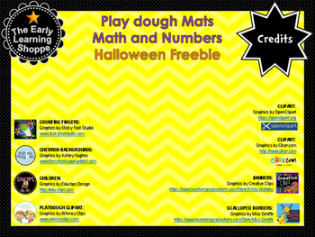 Play dough Mats Math and Numbers HALLOWEEN Freebie