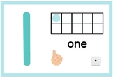 Play-dough Mats Numerals 1 - 10 with Ten Frame, Fingers, Dice and Number Words