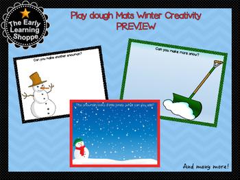 Play dough Mats Winter Creativity Theme