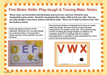 Play-dough Mats for Fine Motor Practice