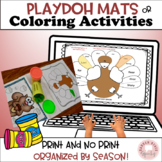 Speech & Language:  Play dough Mats!