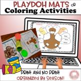 Speech & Language:  Play dough Mats!