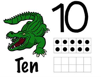 Animal Play dough/Mini Eraser Counting Mats (1-10)