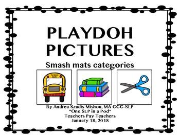Play dough Pictures Smash Mats