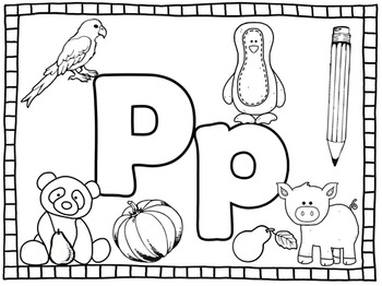 Alphabet Play dough Mats and coloring sheets- Color and Black and white