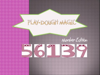 Play-dough mat for number, addition, subtraction, and math