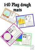 Maths Centre: Play dough mats 1 to 10 (Kindergarten/ Pre K)