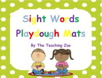 Play dough mats- 30 Sight Words!