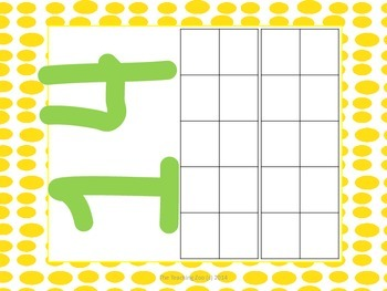 Play dough mats- Numbers 1-20 with differentiated  tens frames
