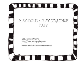 Play-dough play Sequence Mat Autism Play Skills