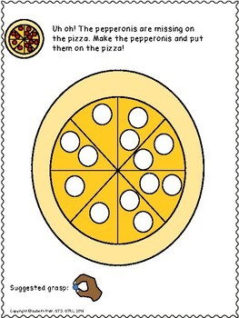 Play dough mats for food! UNIQUE hand skills, fine motor