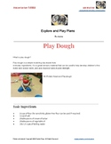 Play dough recipe, with activities and learning opportunity skills list.