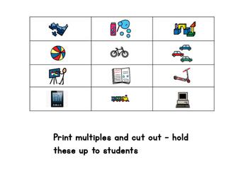 Play items - bingo/memory/go fish