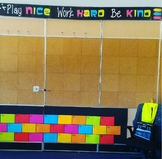 Play nice, Work hard, Be kind Banner