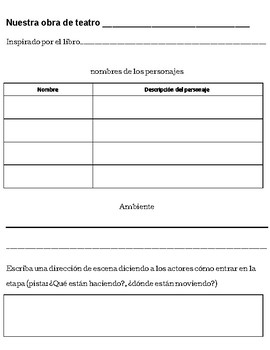 Play or Script Template - Spanish version