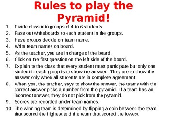 Play the Pyramid