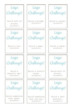 Play with 36 Lego Challenges! FREE Printable.