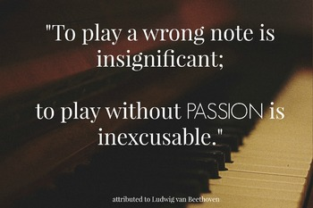 Play with Passion Quote - Beethoven quote - printable - Free
