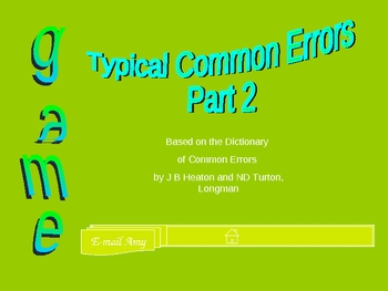 Play with Typical Mistakes, EFL, Int.-Upper Int., 26 mistakes (part 2)