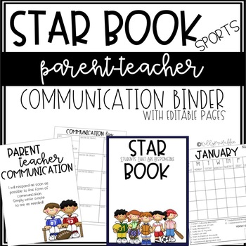 PlayBook - A Parent/Teacher Communication Binder {EDITABLE}