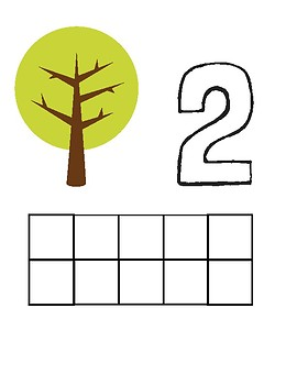 PlayDoh Counting Mats - Math Center