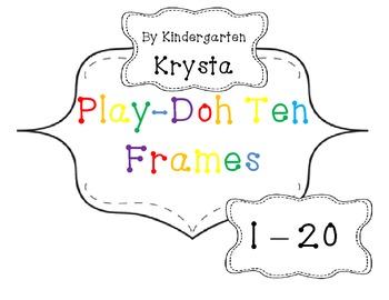 PlayDoh Math Mats 1 - 20 {with} Ten Frames