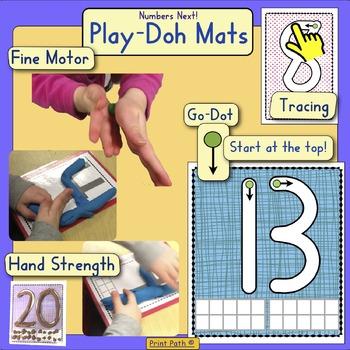 PlayDoh Mats 0-20: Numbers Next! series