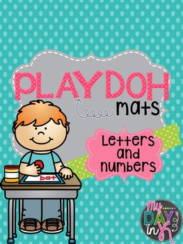 PlayDoh Mats-Letter and Number Mats