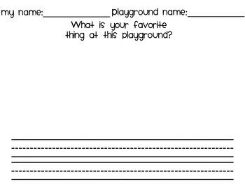 PlayGround Scavenger Hunt