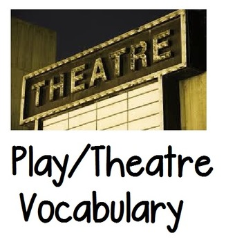 Play/Theatre Vocabulary List