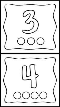 Playdo Number Mats