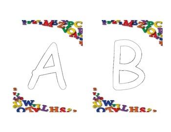 Playdoh ABC cards