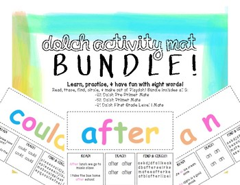 Playdoh Activity Mat BUNDLE! Dolch Pre-Primer, Primer, & First Grade