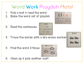 Playdoh Activity Mats: Pre-Primer Set!