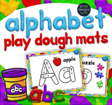 Playdoh Alphabet Mats with Custom Clay Font