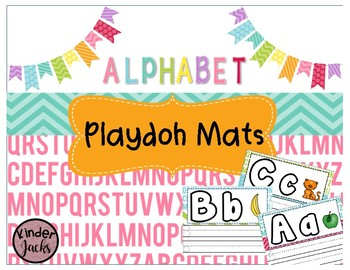 Playdoh Alphabet Mats with Writing Practice