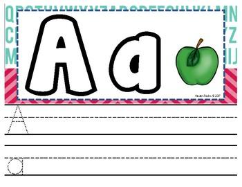 Playdoh Alphabet Mats with Writing Practice