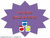 Playdoh Build-A-Scene Book [speech therapy and autism]