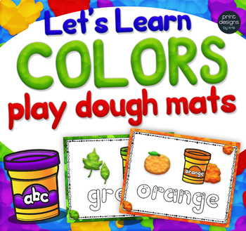 Playdoh COLOR Mats with Custom Clay Font