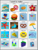 Playdoh Choice Board [speech therapy and autism]