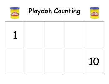 Playdoh Counting Mat