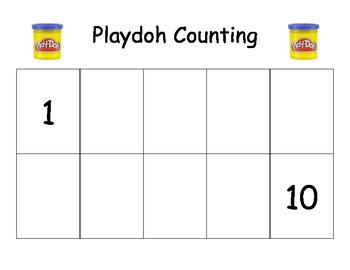 Playdoh Counting Mat