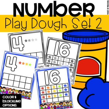 Play Dough Number Mats (1-20)
