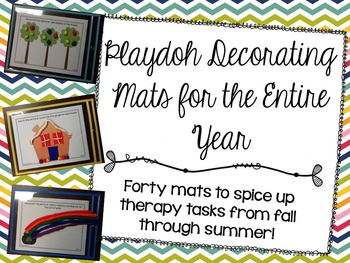 Playdoh Decorating Mats for the Entire Year