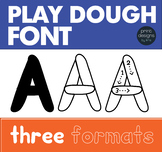 Playdoh Font • Play Dough Font • Letter Tracing Font