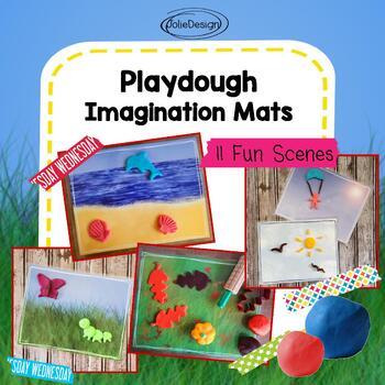 Playdoh Imagination Mats - Outdoor Scenes