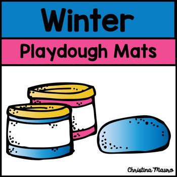 Playdough Mats - Addition {Winter}