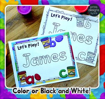 Playdoh Mats Growing Bundle with Custom Clay Font - Alphabet, Names, Sight Words