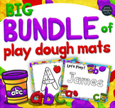 Playdoh Mats MEGA Bundle with Custom Clay Font - Alphabet, Names, Sight Words