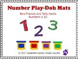 Playdoh Mats Numbers 1-4